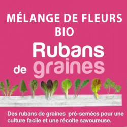 Ruban de Graines de Mélange de Fleurs Utiles Bio