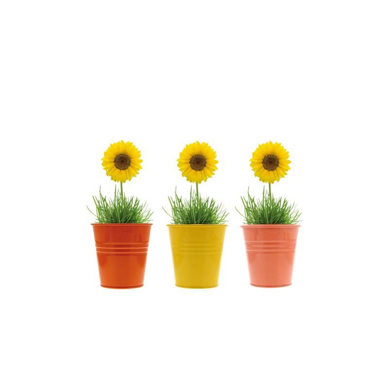 Tournesols tournesols en pot d coration de table - Pot en 3 lettres ...