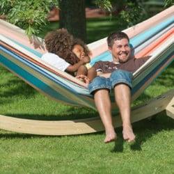 hamac suspendu double pour 2 personnes hamac familial pr t jardiner. Black Bedroom Furniture Sets. Home Design Ideas