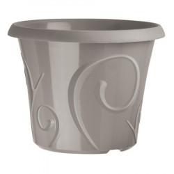 Pots de fleur 25 litres Volutes Gris Galet + soucoupe
