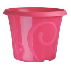 Pots de fleur 25 litres Volutes Rose Pétunia + soucoupe