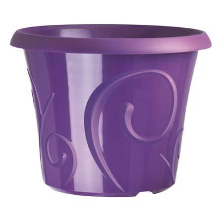 Pots de fleur 25 litres Volutes Violet + soucoupe