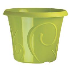 Pots de fleur 25 litres Volutes Vert + soucoupe