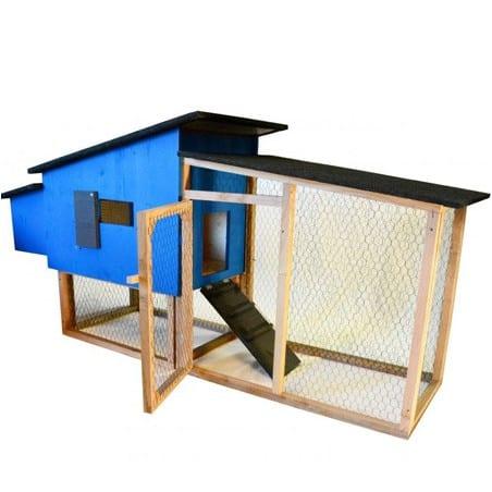 Poulailler Découverte bleu 1 à 4 poules