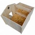 Poulailler compact rouge jusqu'à 4 poules
