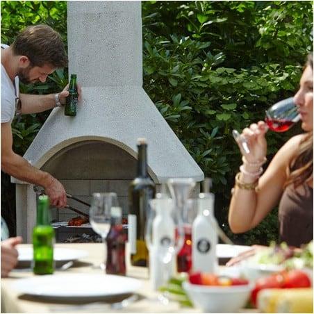Barbecue extérieur en béton Rondo