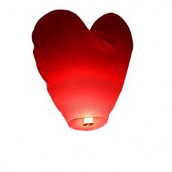 Lanterne volante coeur rouge (X1)