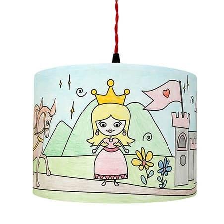 Abat-jour à colorier Princesse