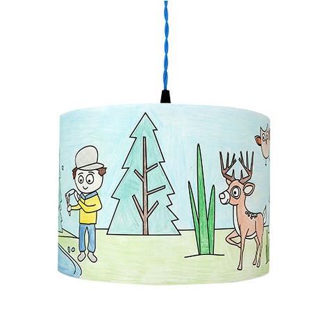 Luminaire à colorier pour enfant Forêt