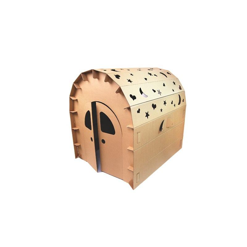 cabane en carton monter soi m me diy cabane en carton. Black Bedroom Furniture Sets. Home Design Ideas