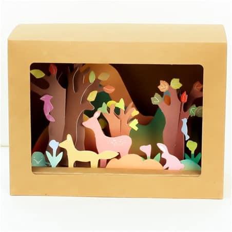Boite Origami Paysage Automne à créer