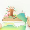 Boite Origami Paysage Printemps à créer