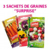 "3 sachets de graines ""SURPRISE"""