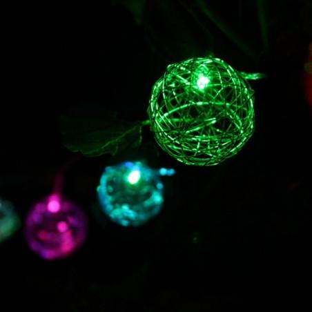 Guirlande Solaire Multicolore 10 lampions