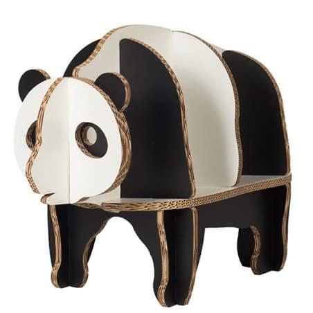 Bibliothèque enfant en carton Panda