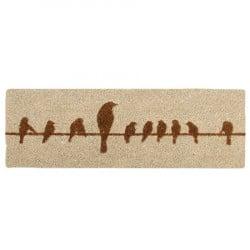 Tapis Oiseaux fibres/coco 75 x 25 cm