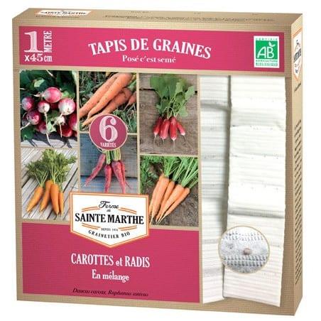 Tapis de Graines de Carottes et Radis Bio