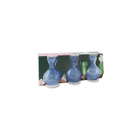 Set 3 vases bleus Jacinthe