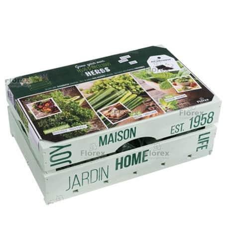 Kit Herbes aromatiques en caisse bois