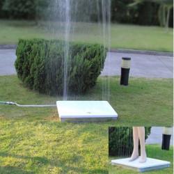 Douche de jardin au sol en alu