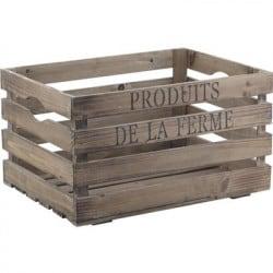 Caisse en bois vieilli Produits de la ferme