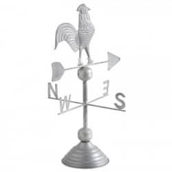 Girouette coq sur pied en métal galvanisé