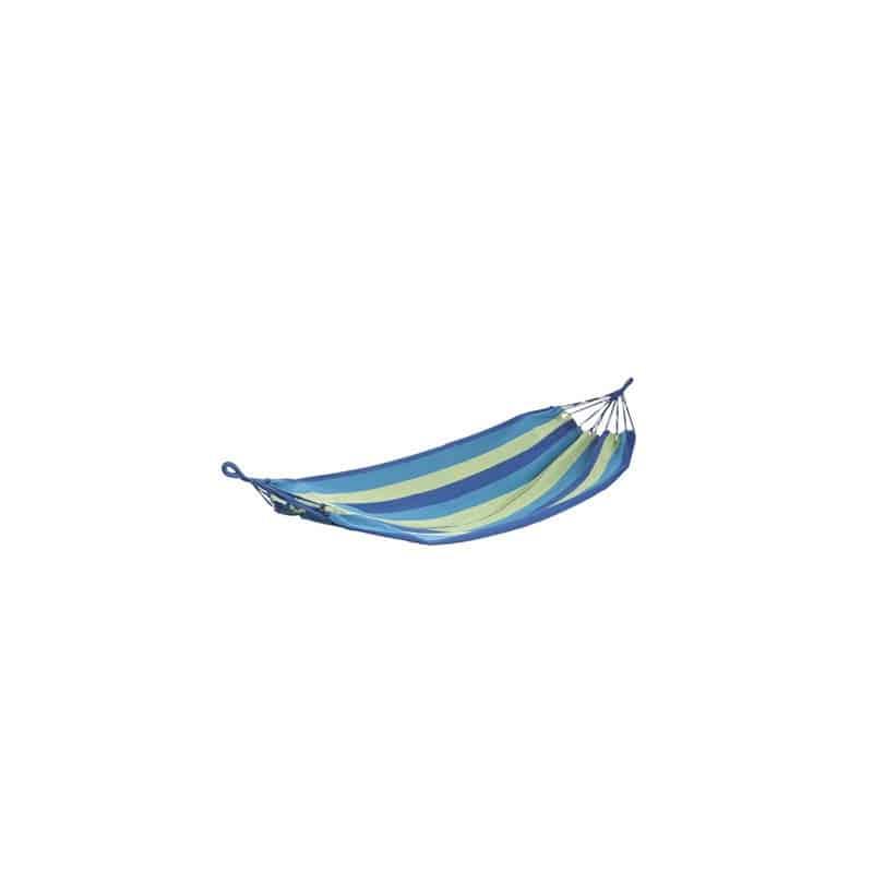 Hamac simple rayé bleu et vert