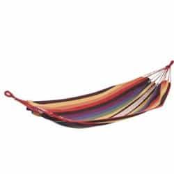 Hamac simple rayé multicolore