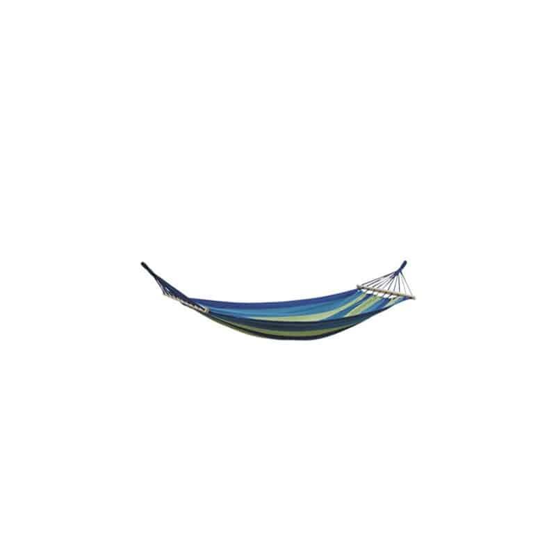 Hamac à barres rayé bleu et vert