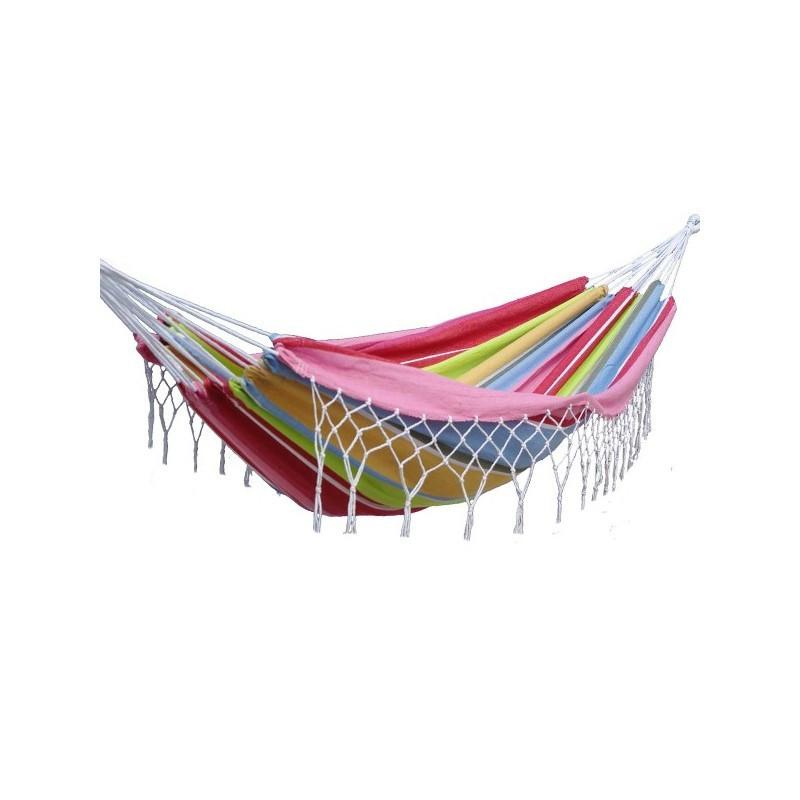 Hamac 1 place multicolore à franges