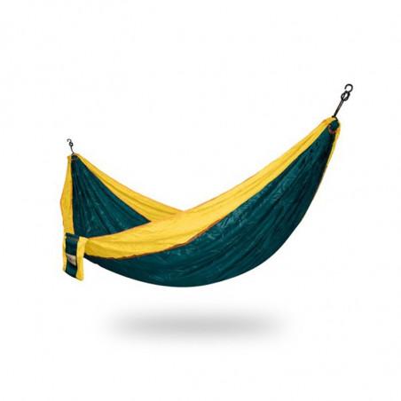 Hamac randonnée parachute vert et jaune