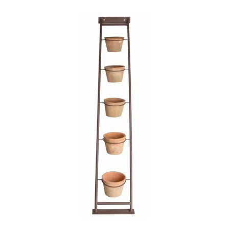 Echelle pour plantes (104 cm) avec 5 pots