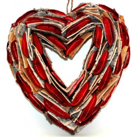 Couronne coeur décorative