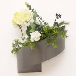 Pot de fleur design Taupe pour coin
