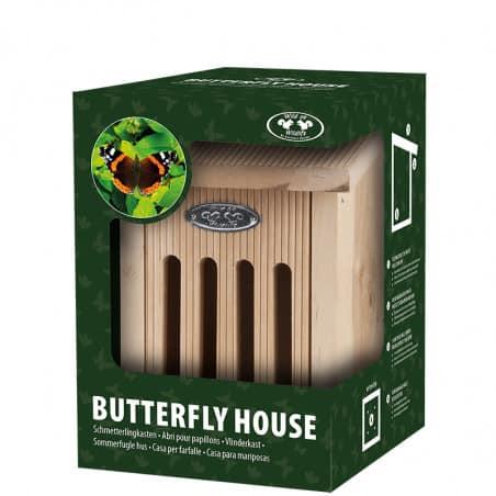 Abris papillons bois naturel
