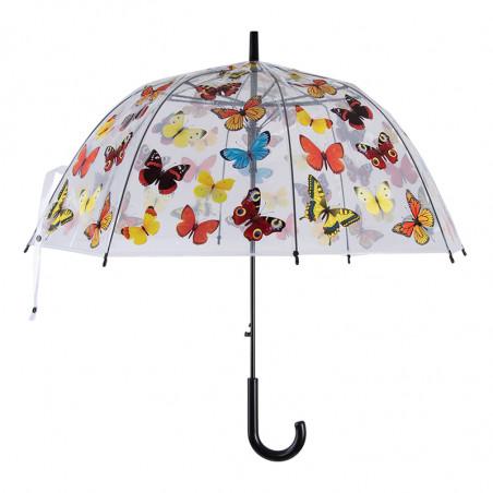 Parapluie transparent papillons