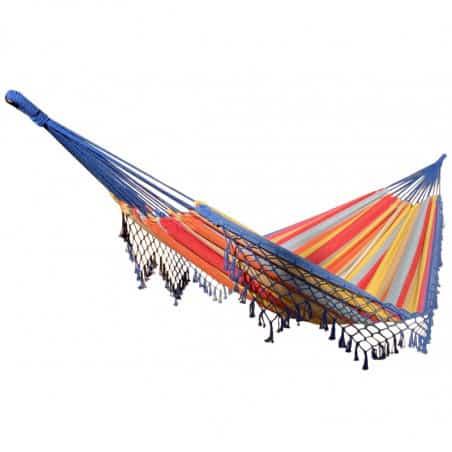 Hamac double multicolores avec franges