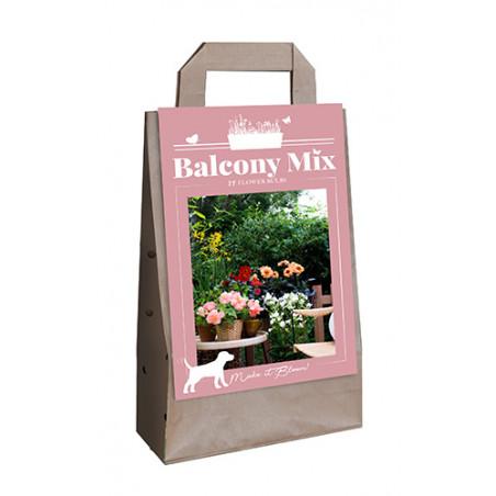 Mix de 10 fleurs roses d'été pour balcon