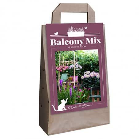 Mix de 15 fleurs violettes pour balcons