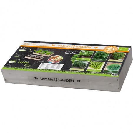 Carré de Potager en bois - Herbes BIO aromatiques