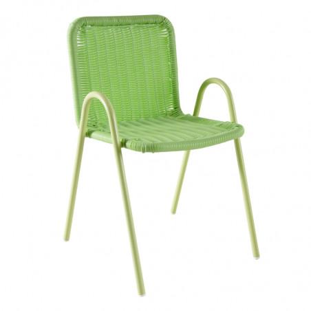 Chaise jardin enfant verte