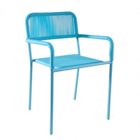 Chaise jardin enfant bleue