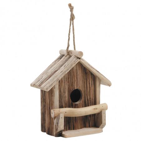 Nichoir maison en bois Hauteur 19 cm