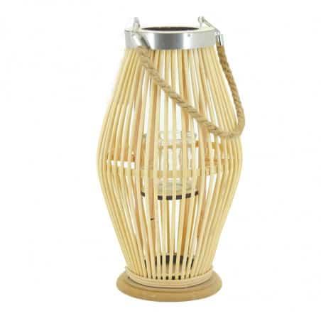 Lanterne en rotin 38 cm