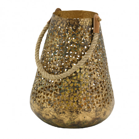 Lanterne en métal antique 30 cm