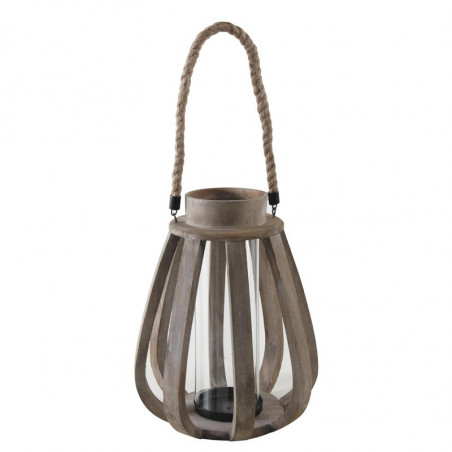 Lanterne en bois 38 cm