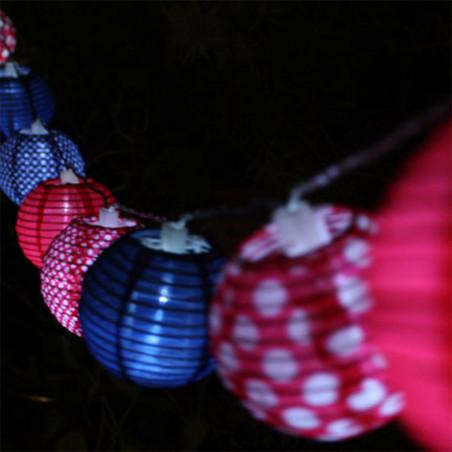 Guirlande Solaire lumineuse Pep's 10 lampions