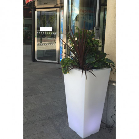 Pot de fleur carré 80cm bicolore Stark S