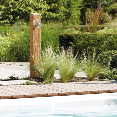 Fontaine de jardin WOOD bois clair