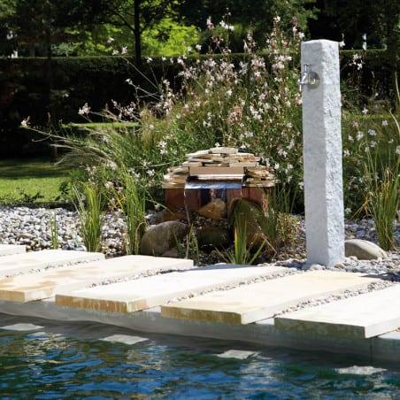 Fontaine de jardin GRANIT gris clair